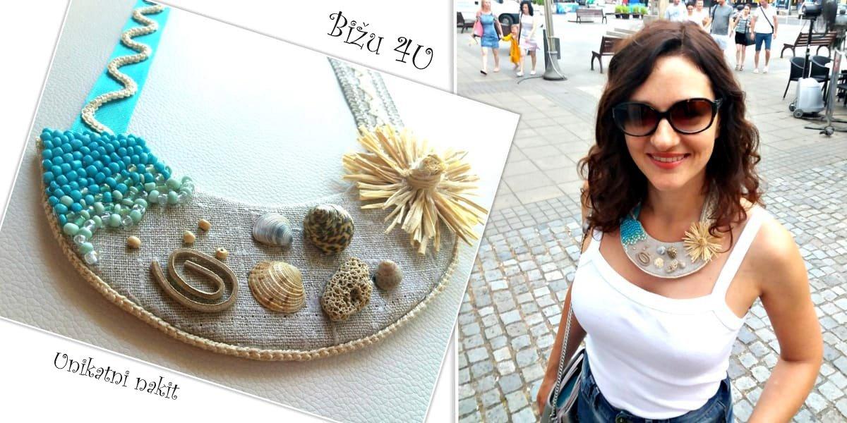 Ogrlica sa školjkama sakupljenim na moru