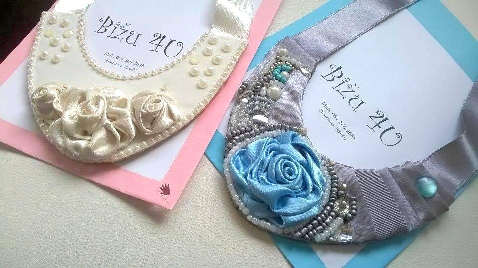 Ogrlice rađene na osnovi od filca